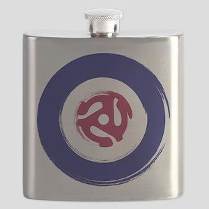 Mod Northern soul design with vinyl adaptor Flask