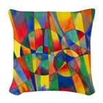 Color Shards Woven Throw Pillow