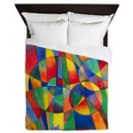 Color Shards Queen Duvet Cover