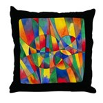 Color Shards Throw Pillow