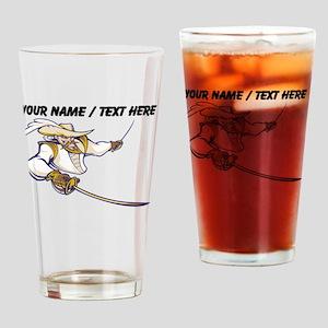 Custom Musketeer Mascot Drinking Glass