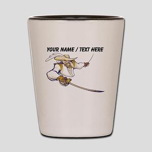 Custom Musketeer Mascot Shot Glass