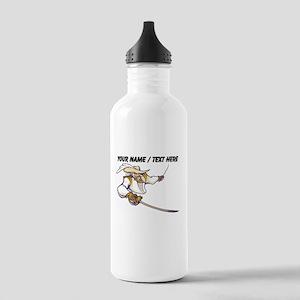 Custom Musketeer Mascot Water Bottle