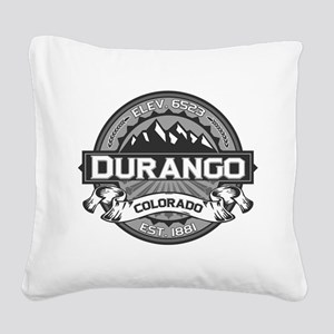 Durango Grey Square Canvas Pillow
