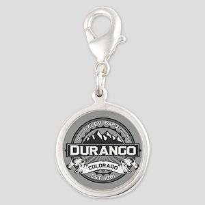 Durango Grey Silver Round Charm