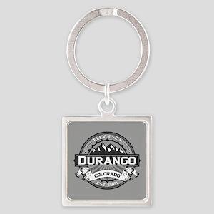 Durango Grey Square Keychain