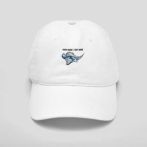 Custom Ghost Cowboy Mascot Baseball Cap