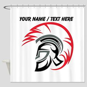 Custom Roman Warrior Helmet Shower Curtain