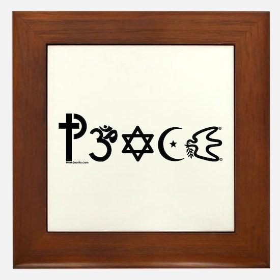 Peace-OM Framed Tile