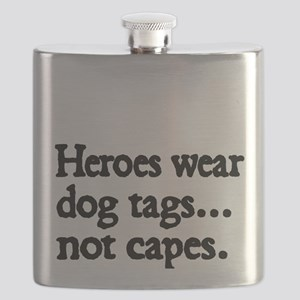 Heroes wear dog tags Flask