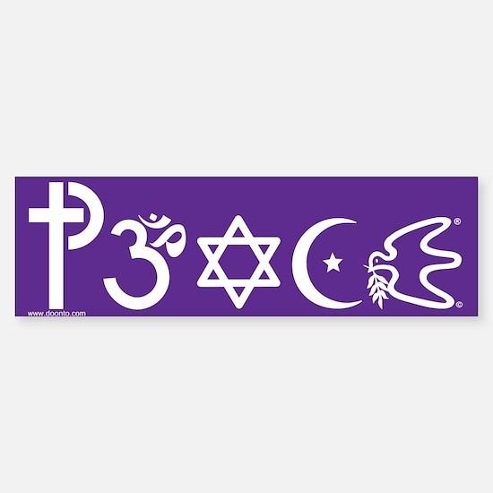 Peace-OM Bumper Car Car Sticker