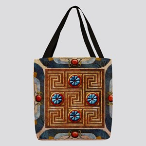 Harvest Moons Egypt Tile Polyester Tote Bag