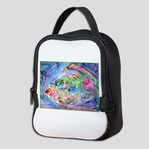 Tropical Fish! Colorful art! Neoprene Lunch Bag