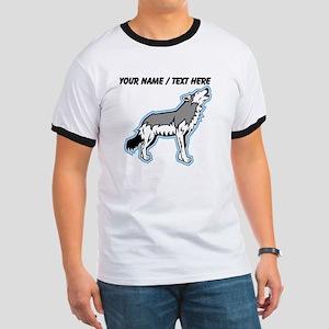 Custom Howling Wolf Cartoon T-Shirt