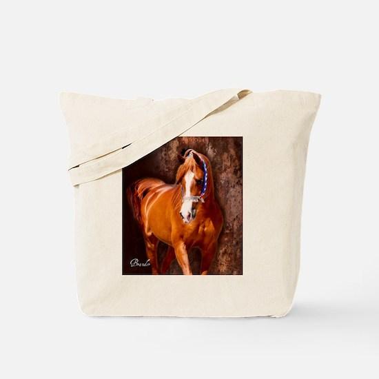 Copper Chestnut Arabian Stallion Tote Bag