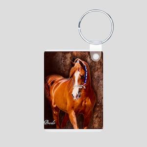 Copper Chestnut Arabian Stallion Keychains