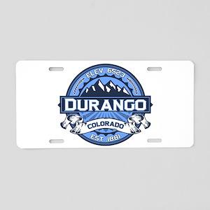 Durango Blue Aluminum License Plate