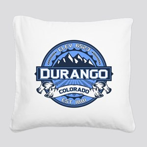 Durango Blue Square Canvas Pillow
