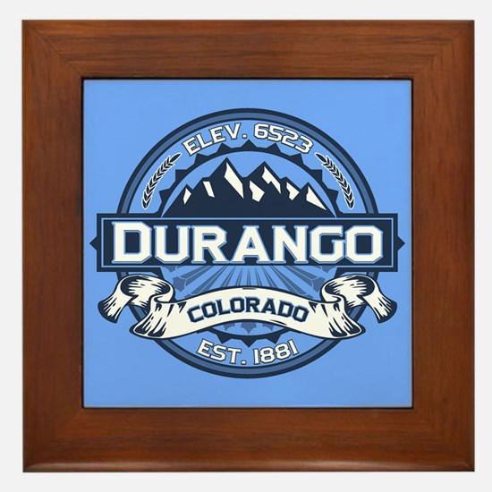 Durango Blue Framed Tile