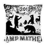 Camp Mather Matters Woven Throw Pillow