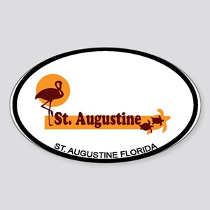 St. Augustine - Beach Design. Sticker (Oval)