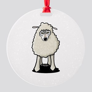 Wolf In Sheep's Clothing Round Ornament