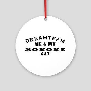 Sokoke Cat Designs Ornament (Round)