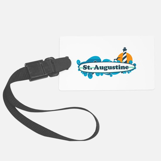 St. Augustine - Palm Surf Design. Luggage Tag