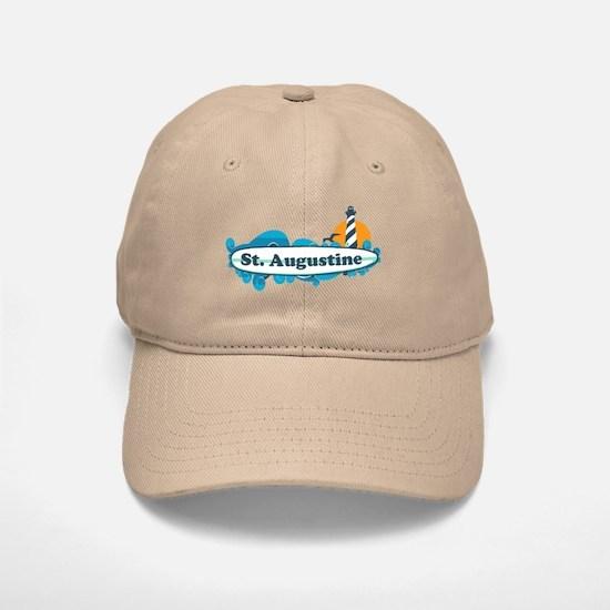 St. Augustine - Palm Surf Design. Baseball Baseball Cap