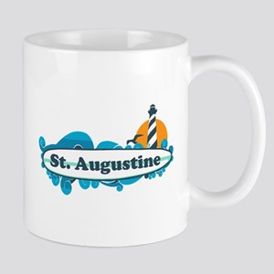 St. Augustine - Palm Surf Design. Mug