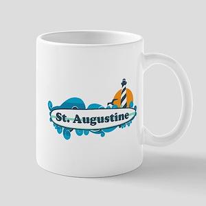 St. Augustine - Palm Surf Design. Mug