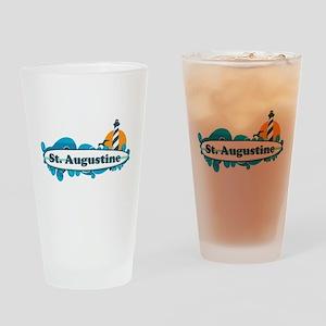 St. Augustine - Palm Surf Design. Drinking Glass
