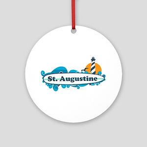 St. Augustine - Palm Surf Design. Ornament (Round)