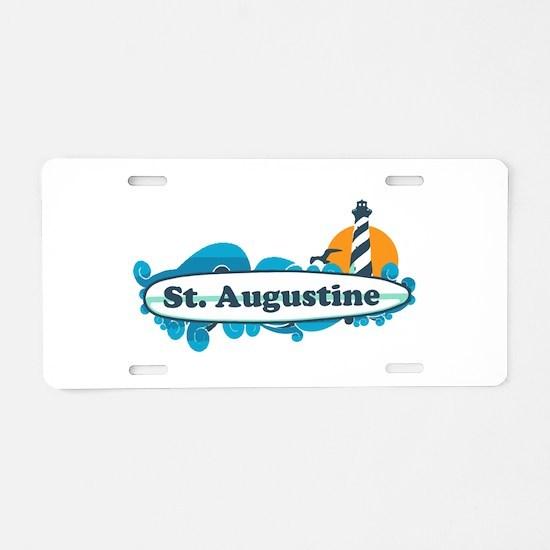 St. Augustine - Palm Surf Design. Aluminum License