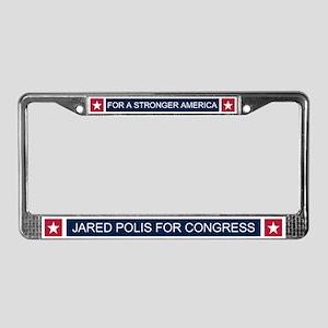 Elect Jared Polis License Plate Frame