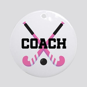 Field Hockey Coach Gift Ornament (Round)
