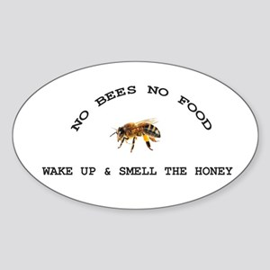 No Bees No Food Sticker