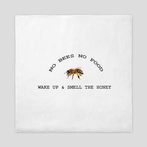 No Bees No Food Queen Duvet
