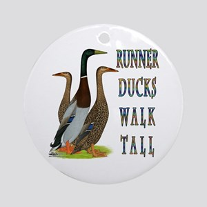 Runner Ducks Walk Tall Ornament (Round)