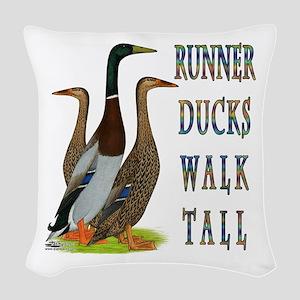 Runner Ducks Walk Tall Woven Throw Pillow