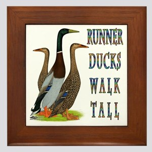 Runner Ducks Walk Tall Framed Tile