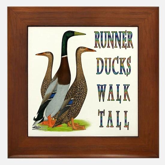 Runner Ducks Walk Tall Framed Tile