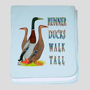 Runner Ducks Walk Tall baby blanket