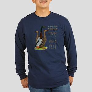 Runner Ducks Walk Tall Long Sleeve T-Shirt