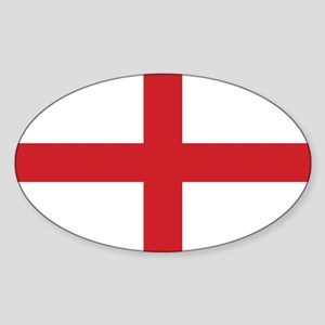 England Flag Sticker (Oval)