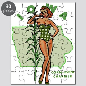 Faded Iowa Pinup Puzzle