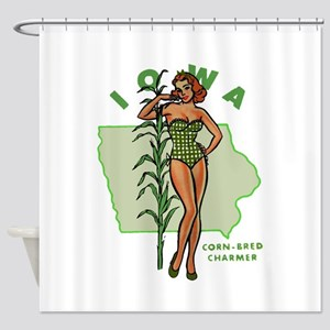Faded Iowa Pinup Shower Curtain