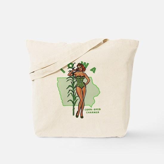 Faded Iowa Pinup Tote Bag