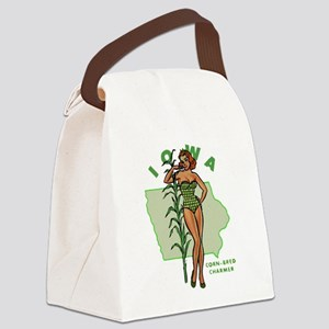 Faded Iowa Pinup Canvas Lunch Bag