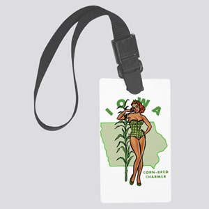 Faded Iowa Pinup Large Luggage Tag